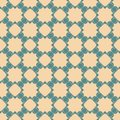 Vector abstract floral seamless pattern. Green and beige geometric background