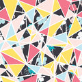 Vector abstract floral triangles seamless repeat pattern design. Great for modern fabric, wallpaper, scrapbooking
