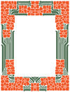 Vector abstract framework from the bound lines and flowers for decoration and design Royalty Free Stock Photo