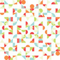 Vector abstract funky background seamless pattern colorfully overly shapes Royalty Free Stock Photos