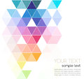 Vector abstract geometric banner with triangle Royalty Free Stock Photo