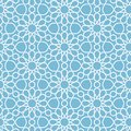 Vector abstract geometric islamic background. Based on ethnic muslim ornaments. Intertwined paper stripes.