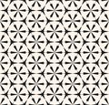 Vector abstract geometric seamless pattern. Black and white floral grid texture