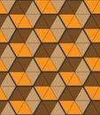 Stylish background with small triangular shapes, hexagonal grid