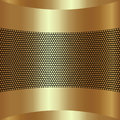 Vector abstract golden background with grille Royalty Free Stock Photo