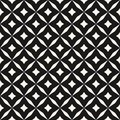 Black and white vector abstract seamless pattern with grid, diamond shapes, stars, rhombuses, lattice, repeat tiles