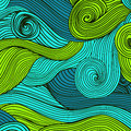 Vector abstract hand-drawn waves texture, wavy background. Color Royalty Free Stock Photo