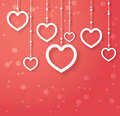 Vector abstract hearts for valentines day design Royalty Free Stock Photography