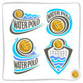 Vector abstract icon for Water Polo Ball Royalty Free Stock Photo