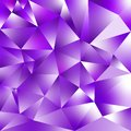Vector irregular polygonal square background - triangle low poly pattern - ultra violet purple color with diamond shine Royalty Free Stock Photo