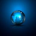 Vector Abstract Logo Globe Gre...