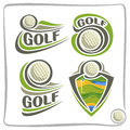 Vector abstract logo Golf Ball Royalty Free Stock Photo
