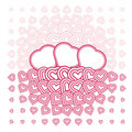 Vector abstract love heart Monochrome Pattern Stock Photos