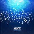 Vector abstract musical background with musical notes Royalty Free Stock Photo