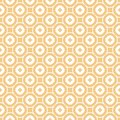 Vector abstract ornamental floral seamless pattern in beige tan and white colors