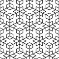 Vector abstract pattern seamless geometric mesh black lines Stock Images
