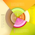 Vector abstract pie chart infographics can be used for workflow layout diagram number options web design Stock Image