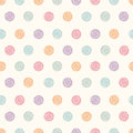 Vector abstract polka dot seamless pattern. Royalty Free Stock Photo