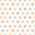 Vector abstract polka dot seamless pattern.