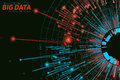 Vector abstract round big data visualization. Futuristic infographics design. Visual information complexity.