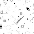 Vector abstract seamless monochrome pattern.