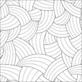 Vector abstract seamless pattern. Black and white background