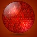 Vector abstract shining crystal ball Royalty Free Stock Photo