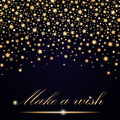 Vector abstract shining falling stars on blue ambient background. Luxury design Royalty Free Stock Photo