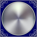 Vector abstract silver circle on blue background Royalty Free Stock Photo