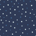 Vector abstract starry seamless pattern on the blue background.