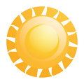 Vector abstract sun icon isolated on white background Stock Photo