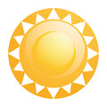 Vector abstract sun icon isolated on white background Stock Photography
