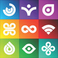 Vector Abstract Symbols Stock Image