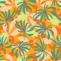 Vector abstract tropical foliage seamless pattern background.