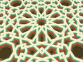 Vector abstract volumetric geometric background. Based on islamic ethnic ornaments. 3d extruded ornament elements.