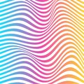 Vector of abstract wavy line