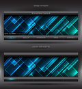 Vector abstract web banner Stock Images