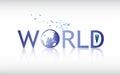 Vector Abstract World Globe Logo