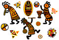 Vector african traditional patterns Royalty Free Stock Photo
