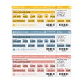Vector airline passenger and baggage ( boarding pass ) tickets with barcode. Royalty Free Stock Photo