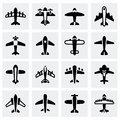 Vector Airplane icon set Royalty Free Stock Photo