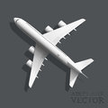 Vector airplane top view a illustration Royalty Free Stock Photography