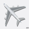 Vector airplane top view. Royalty Free Stock Photo