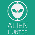 Vector alien hunter on green background file format eps Stock Images