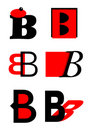 Vector alphabet B logos and icons Royalty Free Stock Photos