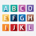 Vector Alphabet colorful Font with Sahdow Style.