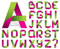 Vector alphabet folded color tape Royalty Free Stock Photography