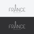 Vector alphabet france design concept with flat sign icon Royalty Free Stock Photo