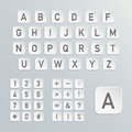 Vector alphabet with numbers and symbols included Stock Photo