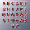Vector alphabet set, paper, stickers, labels, tags.vector/eps10. Royalty Free Stock Photo
